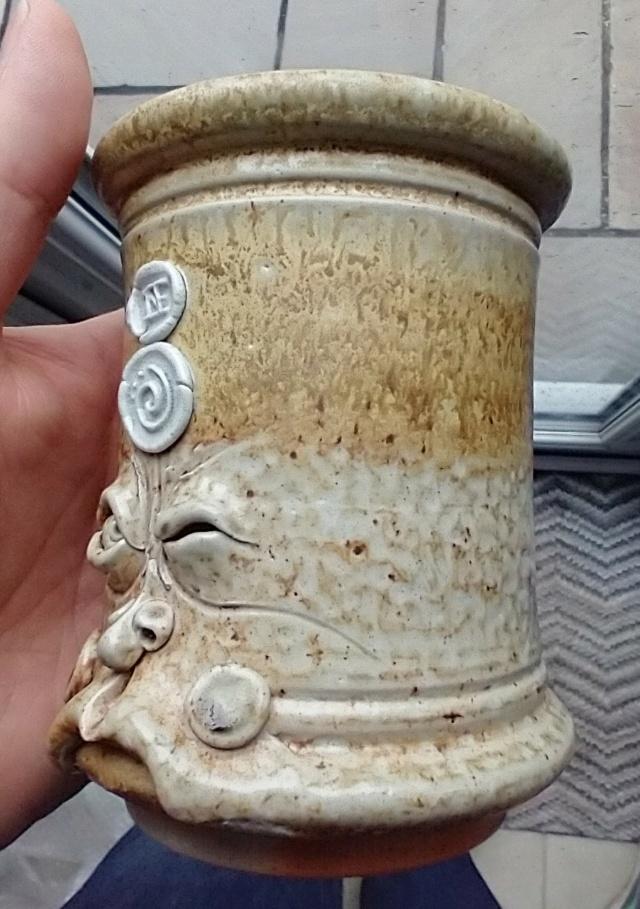 Salt glaze Pot Head Img_2248