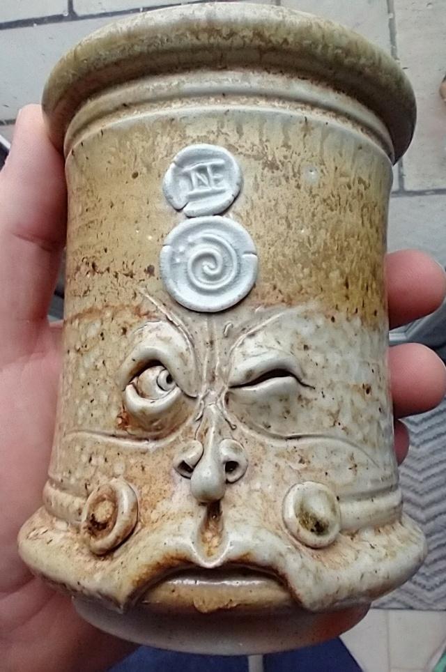 Salt glaze Pot Head Img_2250