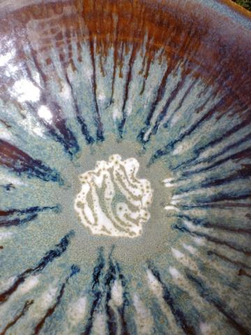 Large drip glaze bowl, Chris Brewchorne Img_2260