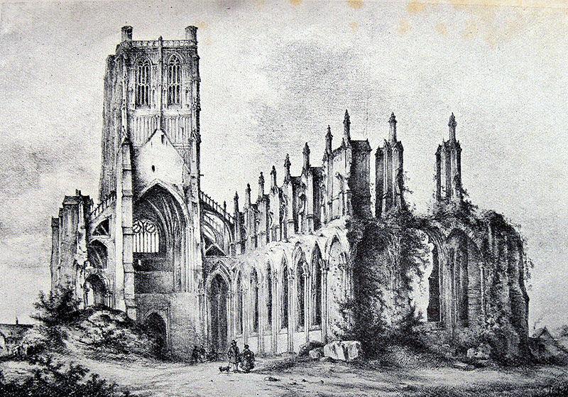 Les ruines de l'abbaye Saint Bertin 800px-10