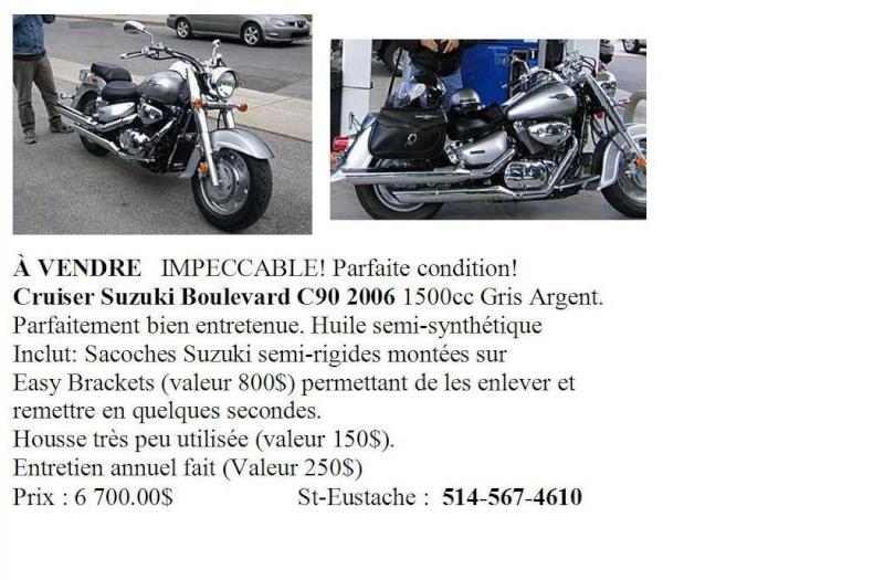 Moto à vendre Cruiser Suzuki Boulevard C90 2006 1500cc Gris Argent Moto_m11