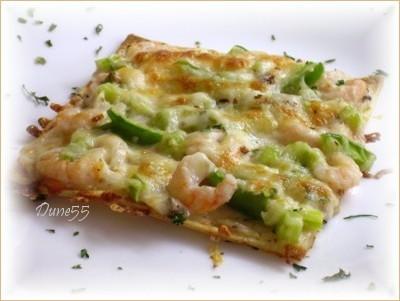Mini pizza aux crevettes sur des Tortillas Pict0045