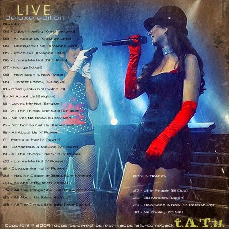 t.A.T.u. Live (deluxe edition) Contra10
