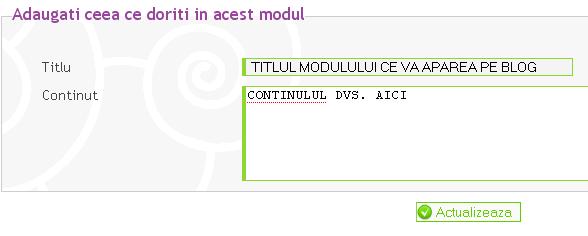 Ce sunt modulele si cum se pot personaliza acestea? Persbg10