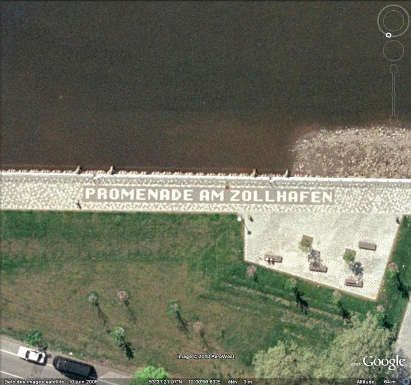 """Ecriture """"Promenade am Zollhafen"""" à Hambourg ( Allemagne ) Acritu15"""