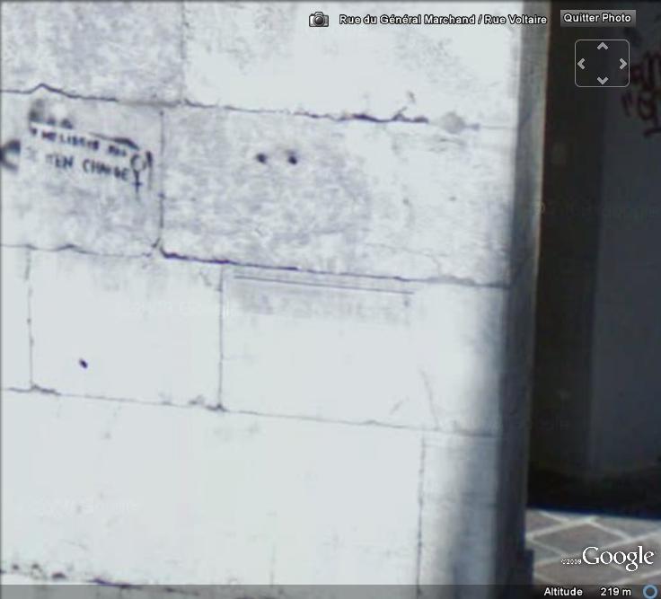 Street View : Les repères de crue Repare14