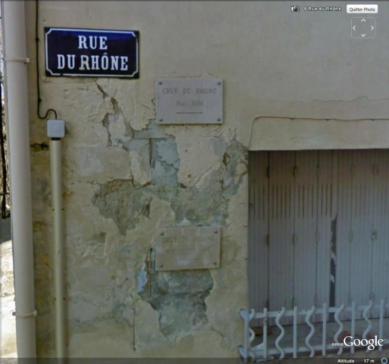 Street View : Les repères de crue Repare15