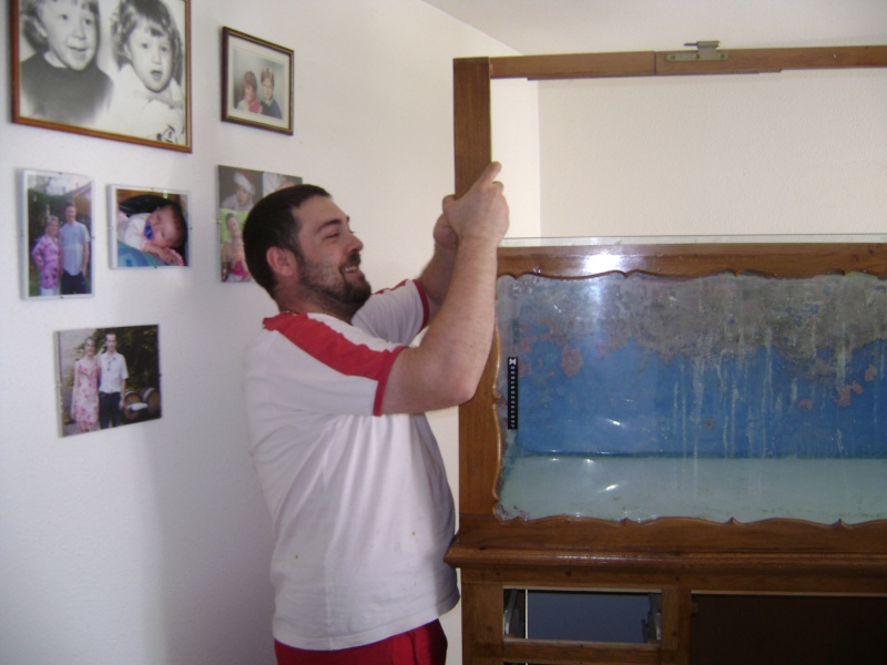Déménagement d'un bac et de pierres vivantes + poissons lundi 1 juin 2009 Dsc08425