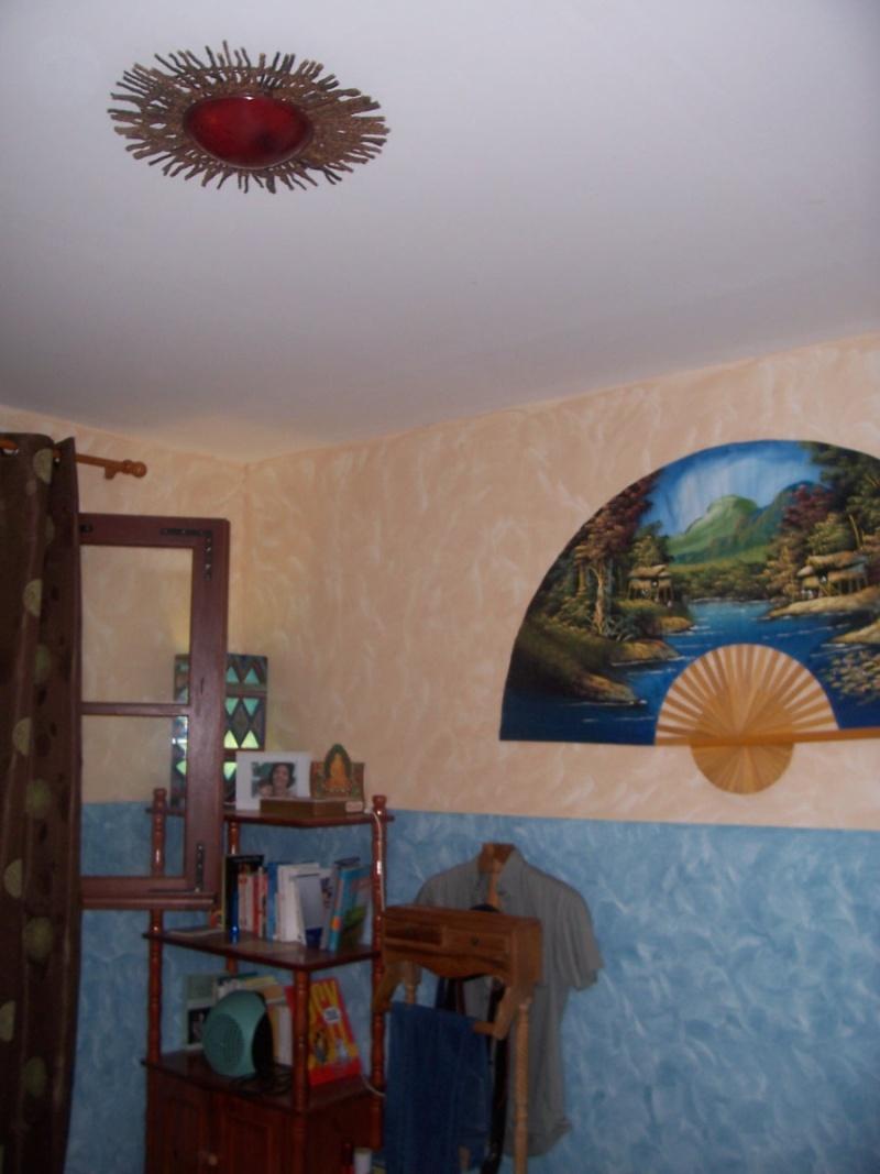 Chambre turquoise Melba : p11-12 photos décor soleil, mise e 104_4711