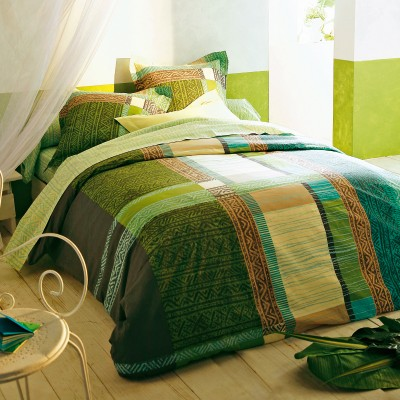 Chambre turquoise Melba : p11-12 photos décor soleil, mise e Couett12