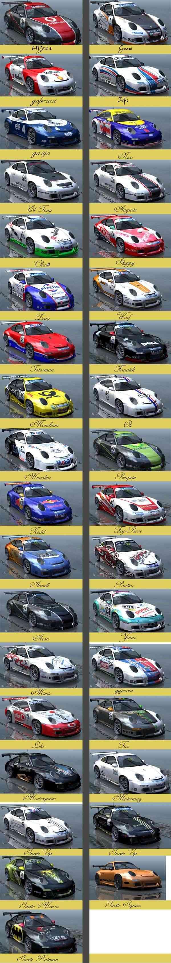 Porsche 997 cup Liste911