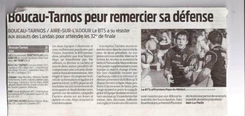 Saison 2009/2010 : Barrage : BTS/Aire sur Adour à 15 h à Peyrehorade - Page 2 Lastsc10