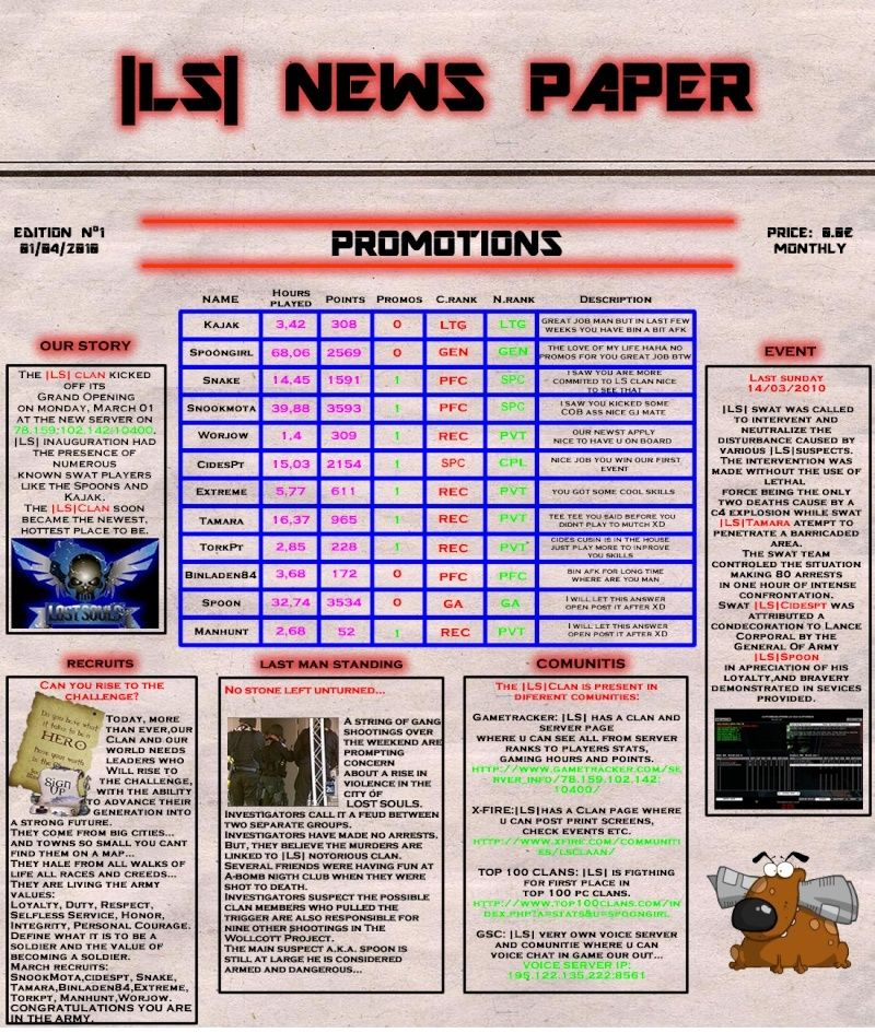 FIRST EDITION  MARCH 2010 News210