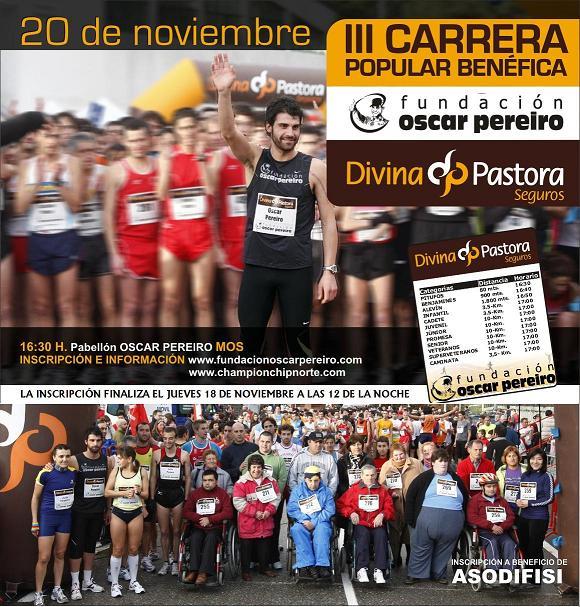 III Carrera Popular Benéfica Oscar Pereiro  Cartel21