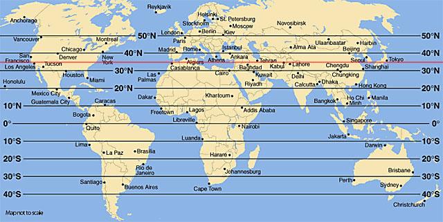 Faits étranges, disparitions et 35° parallèle nord 35para10