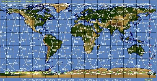L'A-Train (constellation de six satellites franco-américains) Aqua_t10