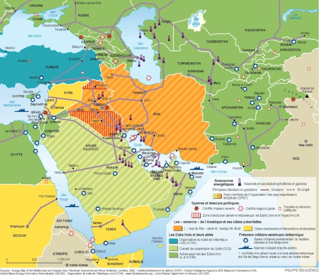 dossier - Dossier sur l'Iran, géostratégie, manipulation, nucléaire, future guerre, cartes Organi13