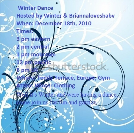 Winter Dance! (Today @ 3pm EST, 2pm CST, 1pm MST, 12pm PST, & 8pm UK!)  Party10