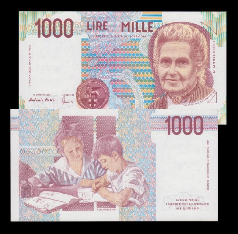 quale la banconota italiana che ricordate con affetto particolare? 0216