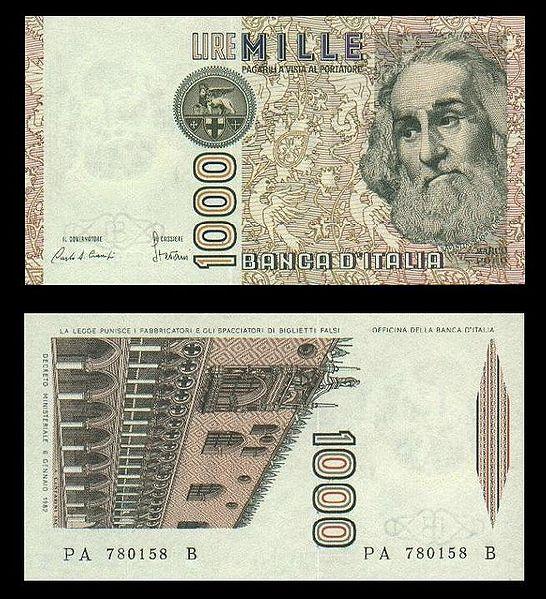 quale la banconota italiana che ricordate con affetto particolare? 0414
