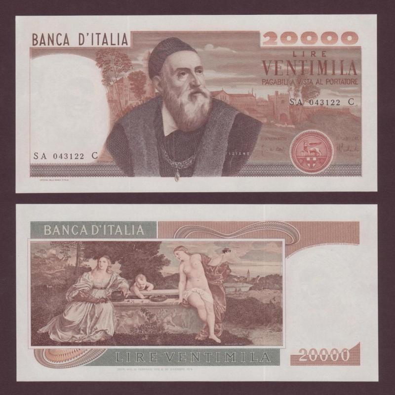 quale la banconota italiana che ricordate con affetto particolare? 1114