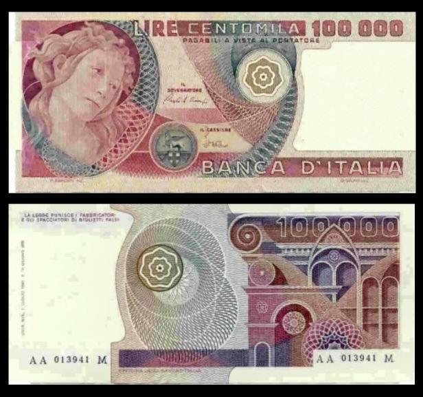 quale la banconota italiana che ricordate con affetto particolare? 1614