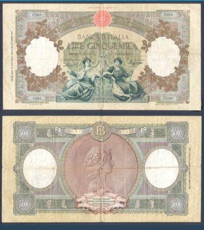 quale la banconota italiana che ricordate con affetto particolare? 1714