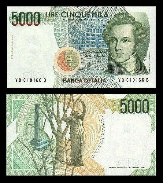 quale la banconota italiana che ricordate con affetto particolare? 2011