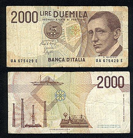 quale la banconota italiana che ricordate con affetto particolare? 2311