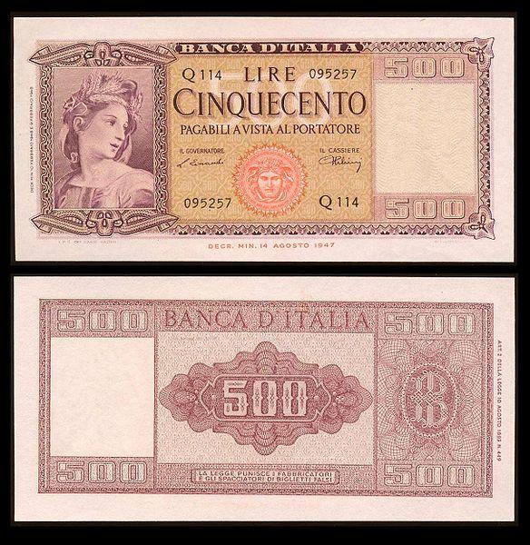 quale la banconota italiana che ricordate con affetto particolare? 2911