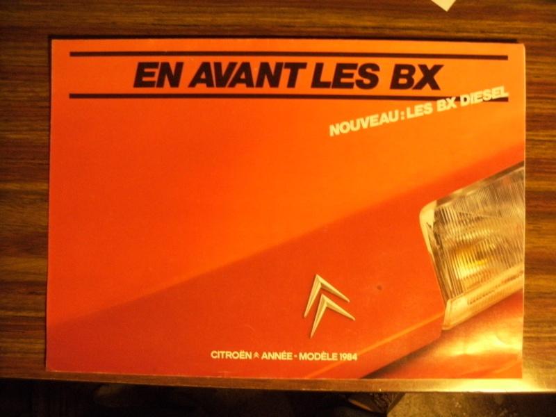 Brochure Les BX Diesel modèles 84 Dscf3310