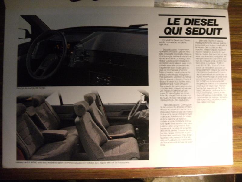 Brochure Les BX Diesel modèles 84 Dscf3314
