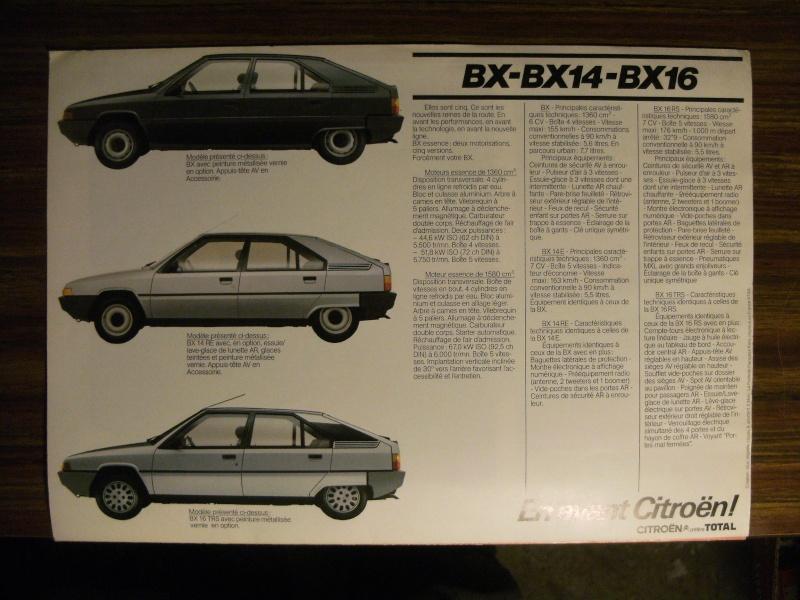 Brochure Les BX Diesel modèles 84 Dscf3315