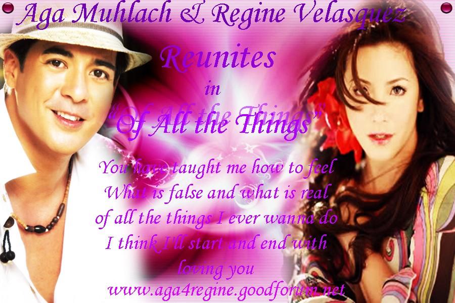 Regine Velasquez and Aga Muhlach