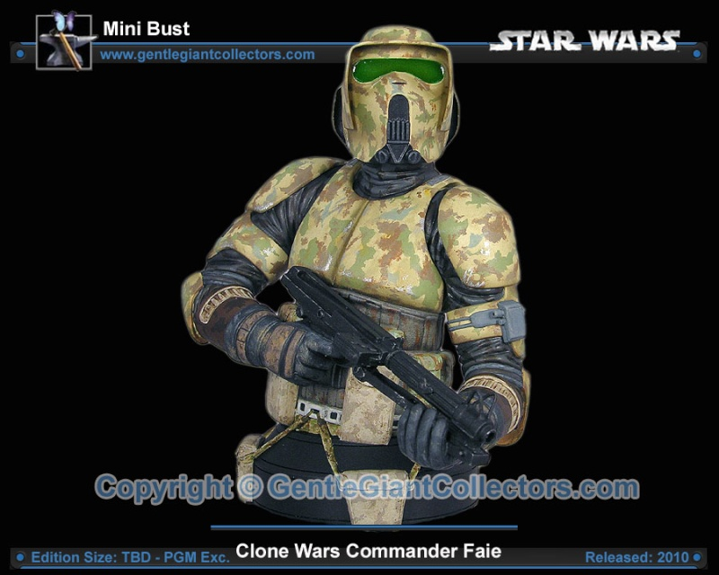Gentle Giant - Commander Faie mini bust PG Gift 2010 Ggc_fa10