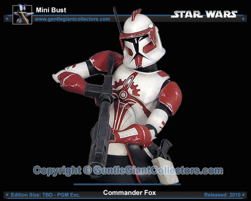 Gentle Giant Clone Wars Commander Fox mini bust PG Gift 2010 Ggc_fo10