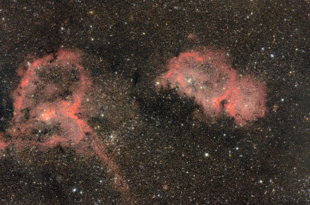 Nébuleuse de l'Âme et du Coeur IC1848 et IC 1805 Ic184810