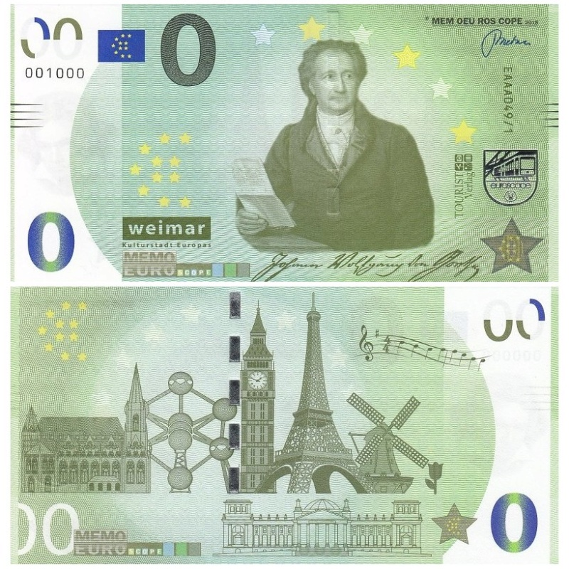 Billets Memo Euro scope Goethe10