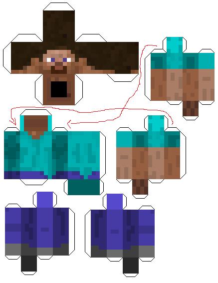 Paper Toys Minecraft Minecr11