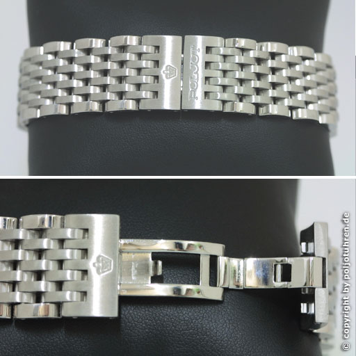 Revue Strela blanche bracelet acier Strela10