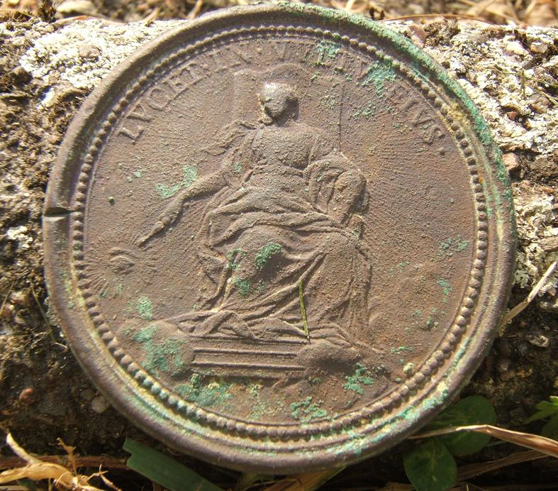 Rare médaille commémorative 18ème année Pontificat de CLEMENT XI 2004_015