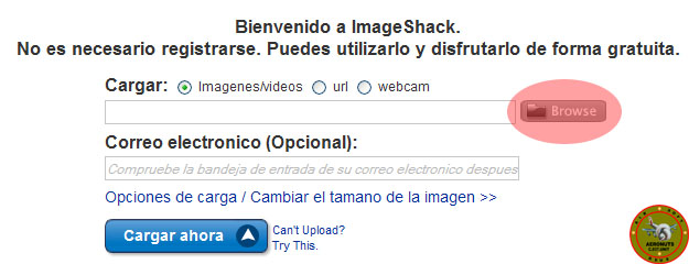 Como subir imagenes a Imageshack en el foro 211