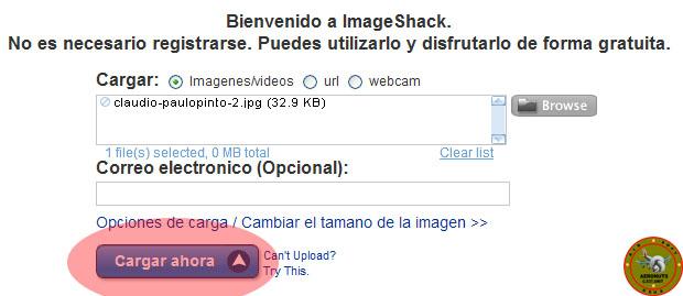 Como subir imagenes a Imageshack en el foro 311