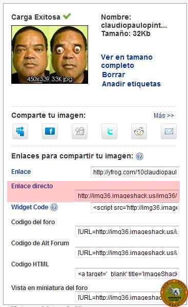 Como subir imagenes a Imageshack en el foro 511