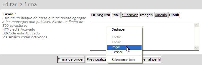 Como poner en el foro una firma automatica (imagen o video) desde el perfil. Pegar_10