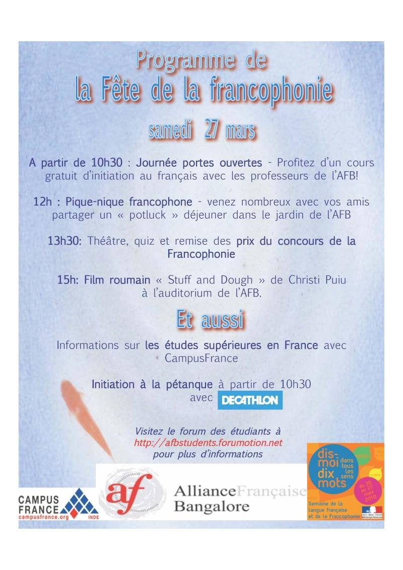 PROGRAMME DE LA JOURNEE DU SAMEDI 27 MARS Franco10