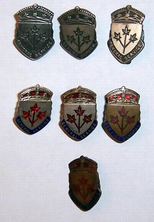 General Service Badge varieties Ww2wsb10