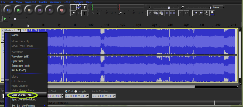Save my vocals!!! (audacity) Stereo10