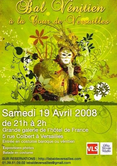 les affiches  du bal de  Versailles, depuis 2002 N1356211