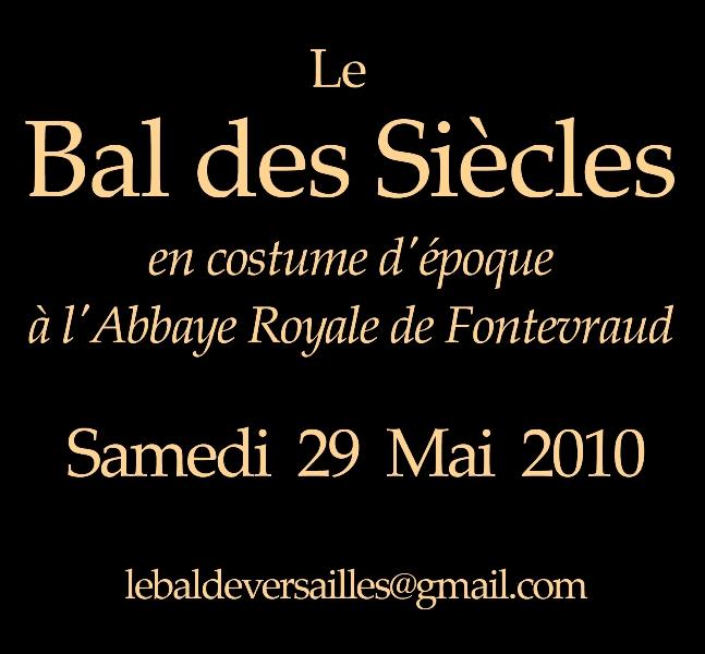 les affiches  du bal de  Versailles, depuis 2002 Verso12